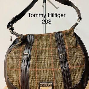 Tommy Hilfiger plaid brown purse